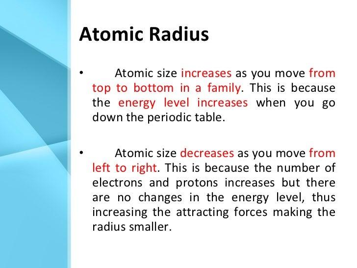 ... 5. Atomic Radius ...