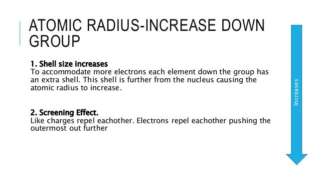 Trends in the periodic table atomic radius increase down group urtaz Gallery