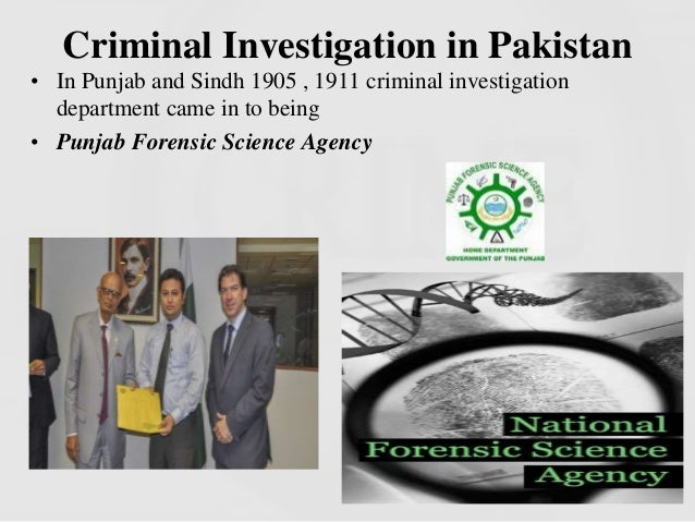 trends of crime in pakistan and investigation by forensic
