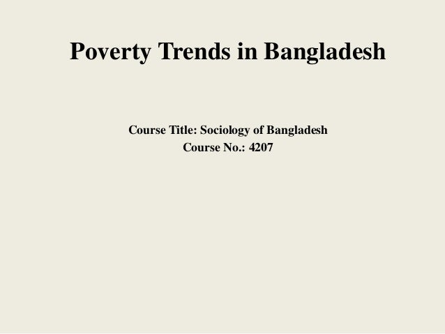 poverty of bangladesh assignment