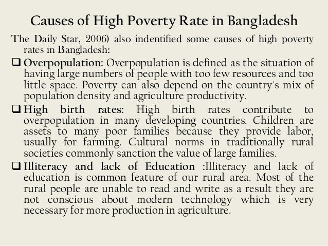 Rural poverty in bangladesh trends and
