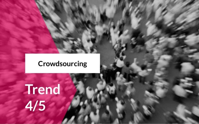 Trend 4/5 Crowdsourcing