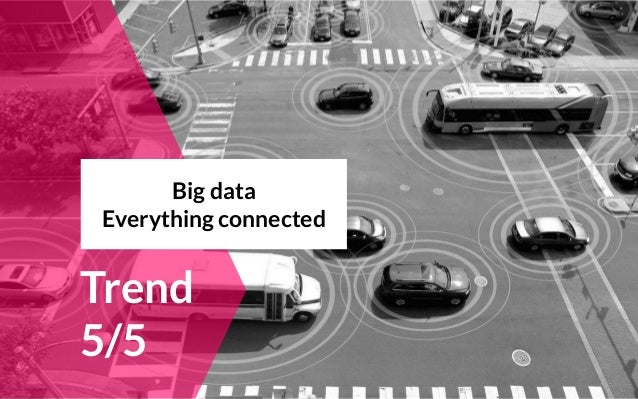 Trend 5/5 Big data Everything connected