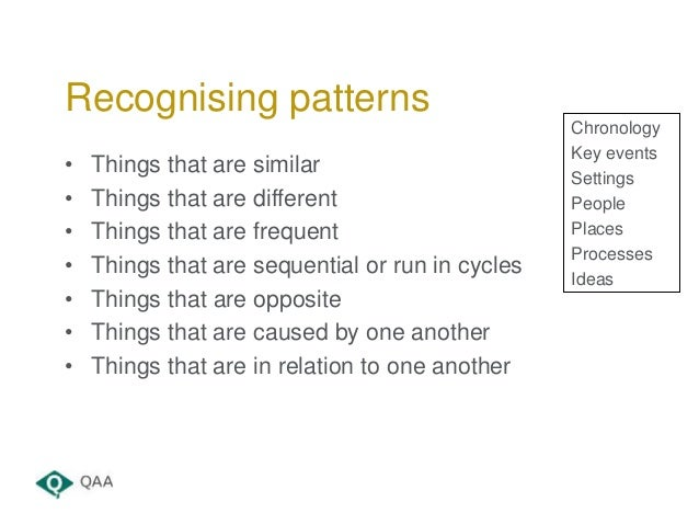• Things that are similar • Things that are different • Things that are frequent • Things that are sequential or run in cy...