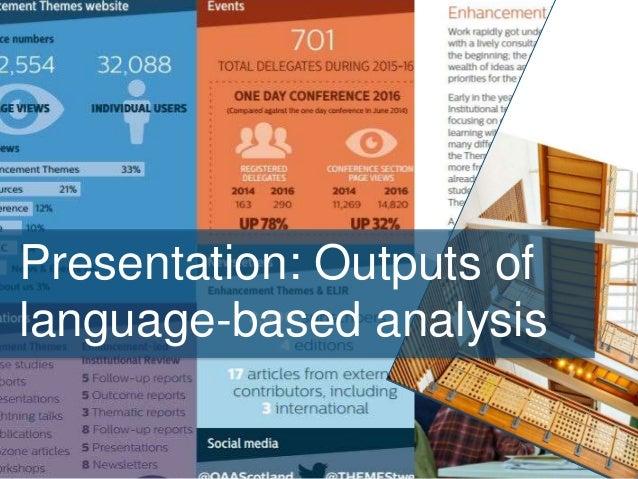 Presentation: Outputs of language-based analysis