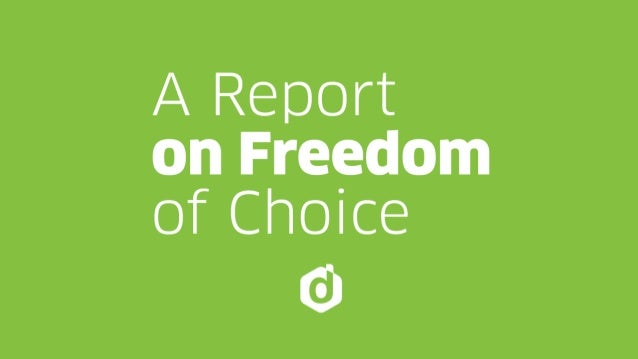 Setiembre 2015 A REPORT ON  FREEDOM OF CHOICE