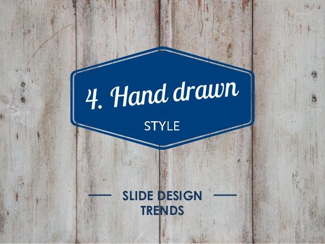 Graphic style trends Flat Retro Watercolor Hand drawn for up to date slide design