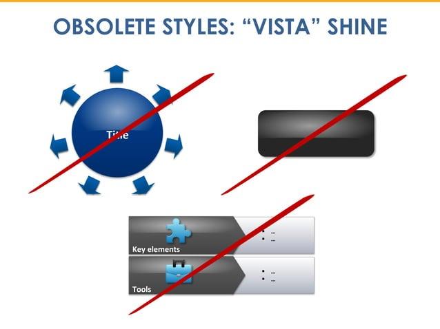 "OBSOLETE STYLES: ""VISTA"" SHINE Title  …  … Key elements  …  … Tools"