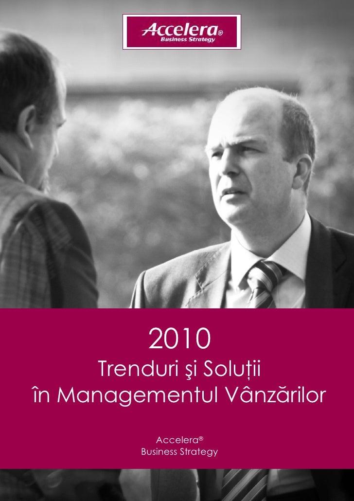 2010            Trenduri şi Soluţii      în Managementul ...