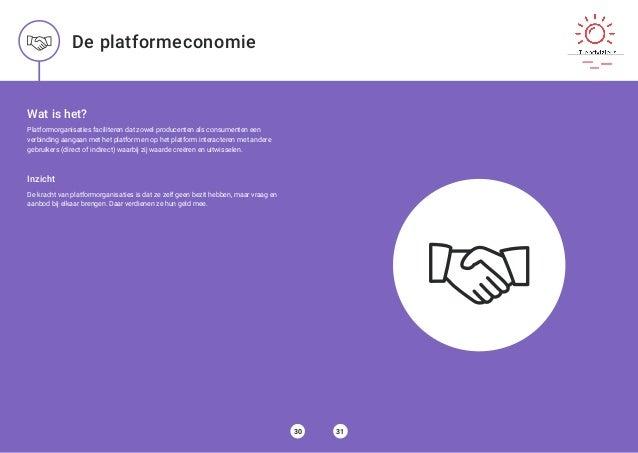 Wat is het? Platformorganisaties faciliteren dat zowel producenten als consumenten een verbinding aangaan met het platform...