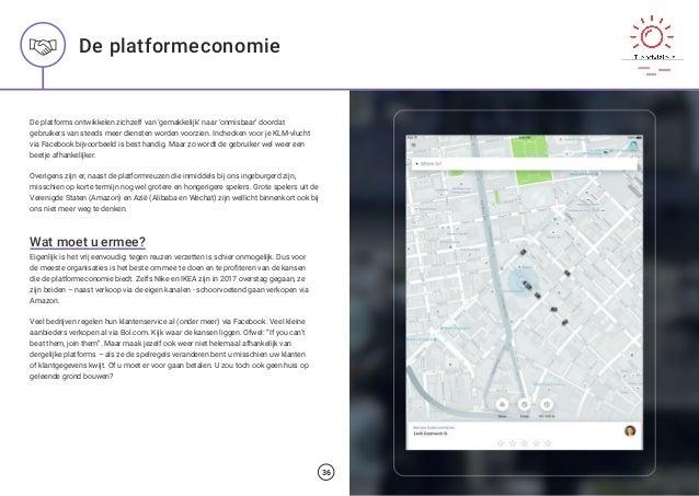 De platformeconomie De platforms ontwikkelen zichzelf van 'gemakkelijk' naar 'onmisbaar' doordat gebruikers van steeds mee...