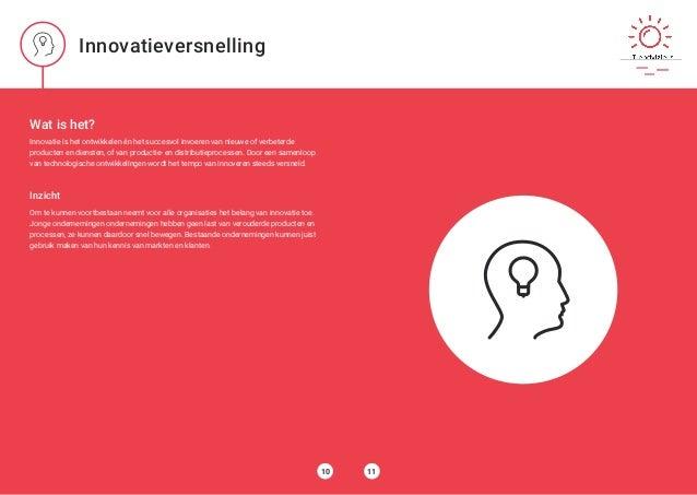 Wat is het? Innovatie is het ontwikkelen én het succesvol invoeren van nieuwe of verbeterde producten en diensten, of van ...