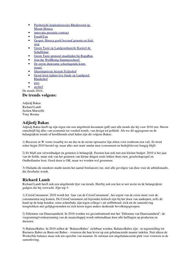•   Persbericht inspiratiesessies Rhederoord op         Misset Horeca     • innovatie prestatie contract     • Food4You   ...