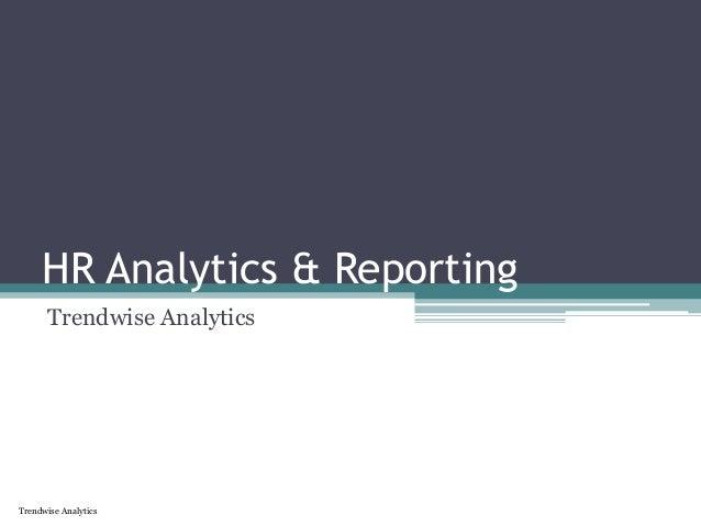 Trendwise Analytics HR Analytics & Reporting Trendwise Analytics