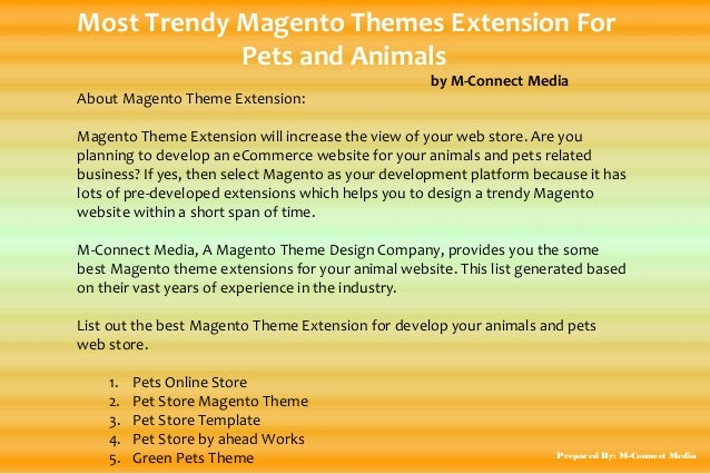 Most Trendy Magento Themes Extension For Pets and Animals by M-Connect Media About Magento Theme Extension: Magento Theme ...