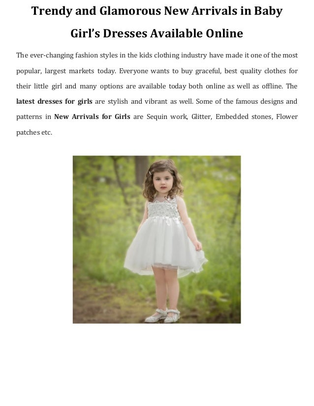 751b52664238b Trendy and glamorous new arrivals in baby girls dresses available online