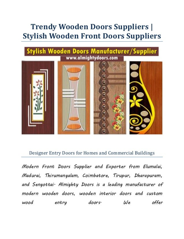 Trendy Wooden Doors Suppliers Stylish Wooden Front Doors Suppliers