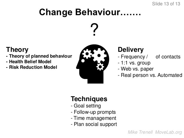 how to reduce resistance to behavior change physical activity