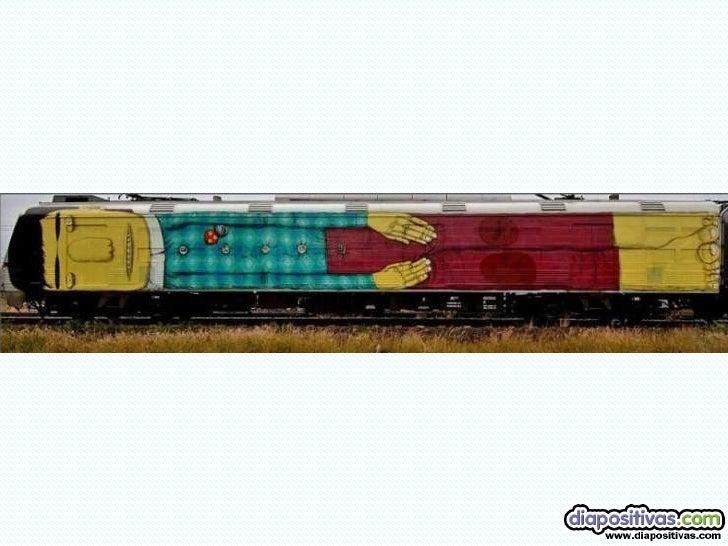 Trenes Como Paredes Diapositivas Slide 3