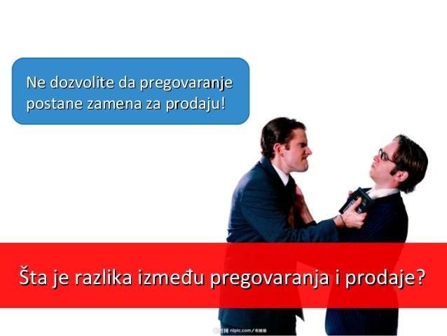 Osnovni zadatakOsnovni zadatak prodaje nije da proda,prodaje nije da proda, već da obezbediveć da obezbedi ponovnu porudžb...
