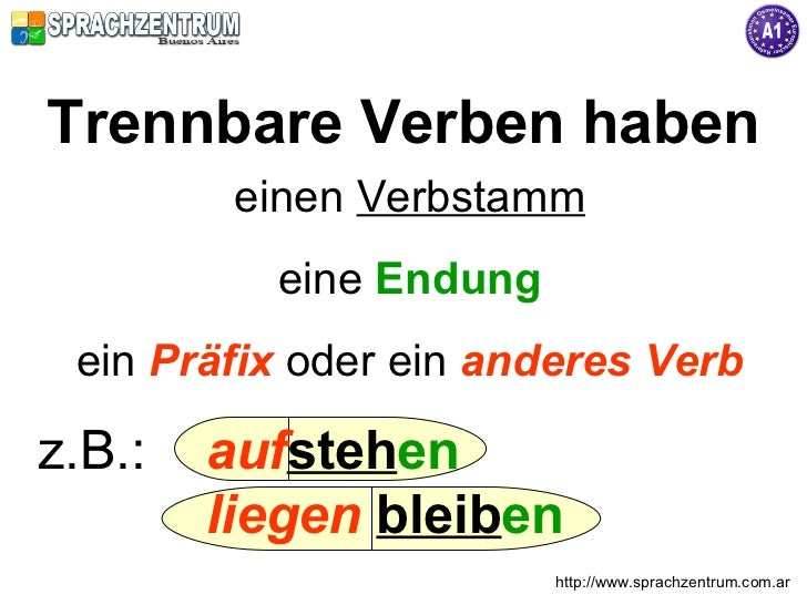 Trennbare Verben Slide 2