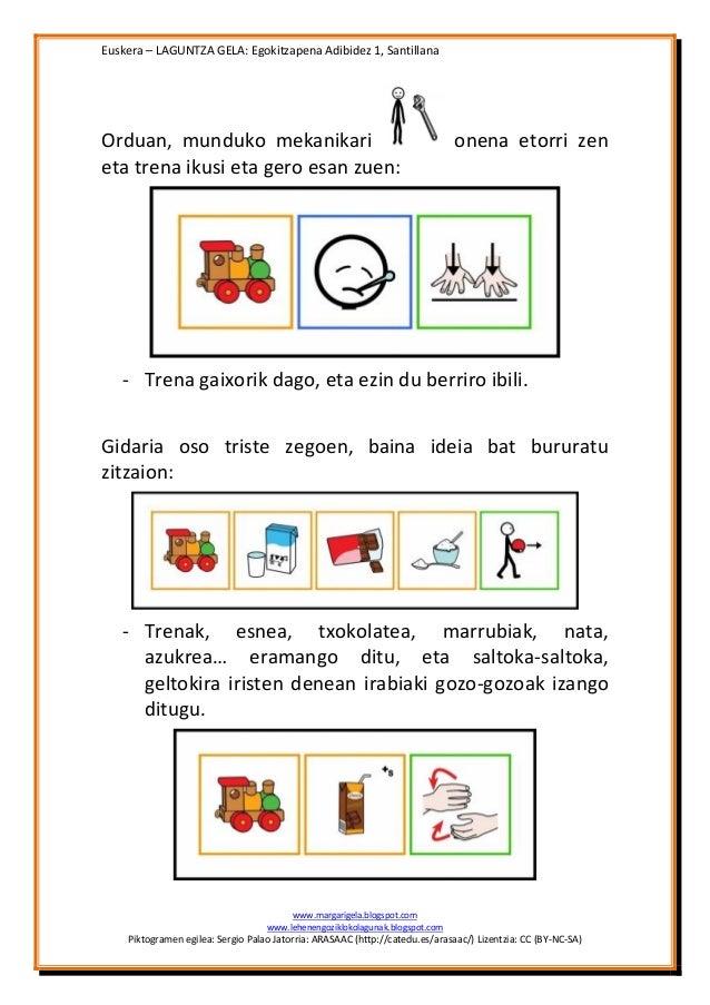 Euskera – LAGUNTZA GELA: Egokitzapena Adibidez 1, Santillanawww.margarigela.blogspot.comwww.lehenengoziklokolagunak.blogsp...