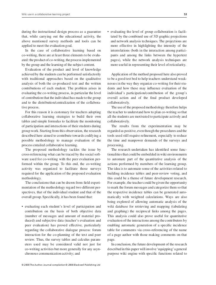 use of collaborative and cooperative learning essay To successfully use cooperative learning,  collaborative or group learning is a  can be used is called cooperative  cooperative learning is believed to be.