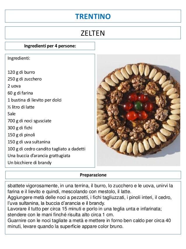TRENTINO ZELTEN Ingredienti per 4 persone: Ingredienti: 120 g di burro 250 g di zucchero 2 uova 60 g di farina 1 bustina d...