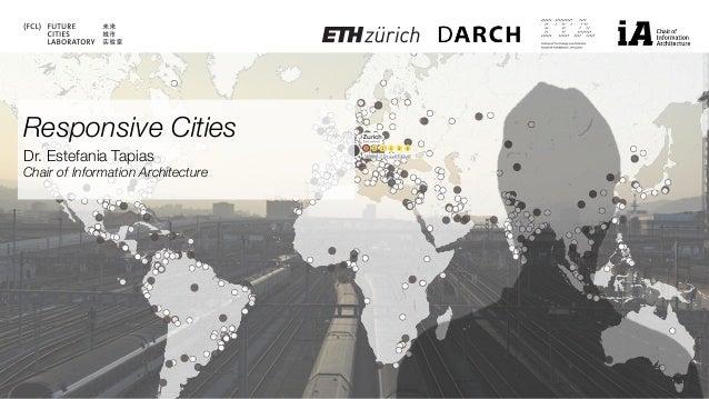 Responsive Cities Dr. Estefania Tapias Chair of Information Architecture