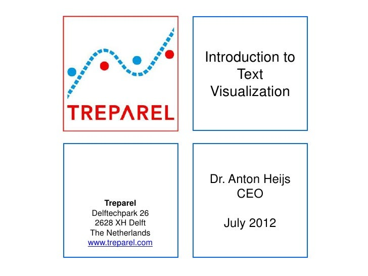 Introduction to                        Text                    Visualization                   Dr. Anton Heijs            ...
