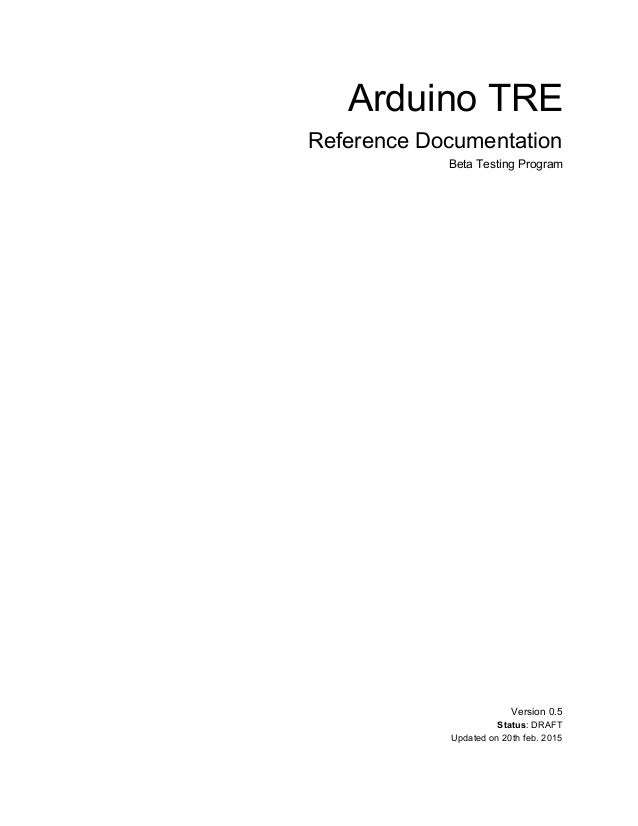Arduino Tre reference