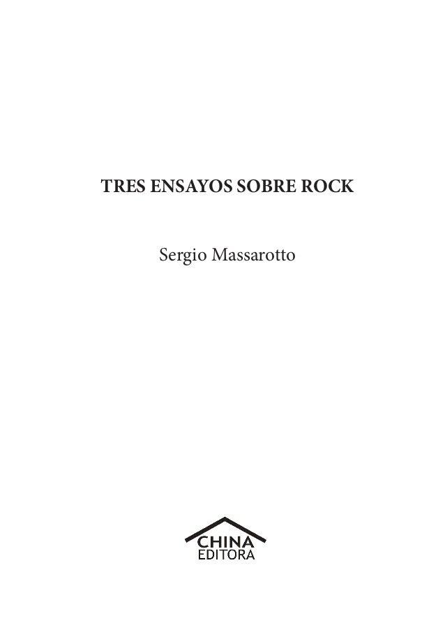 Tres Ensayos Sobre Rock Sm10 1