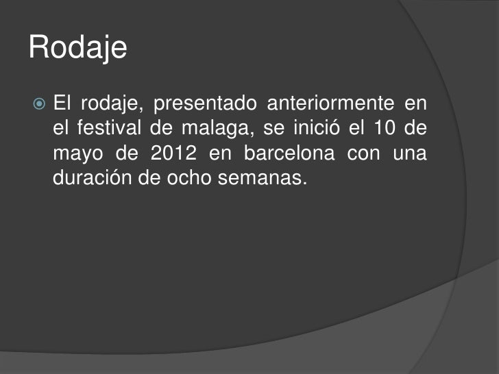 Secuela   Debido al gran éxito en taquilla de la    película, su productora, Antena 3 Films ha    encargado la secuela, q...