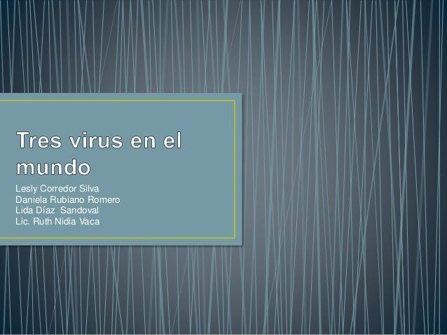 Lesly Corredor Silva  Daniela Rubiano Romero  Lida Díaz Sandoval  Lic. Ruth Nidia Vaca