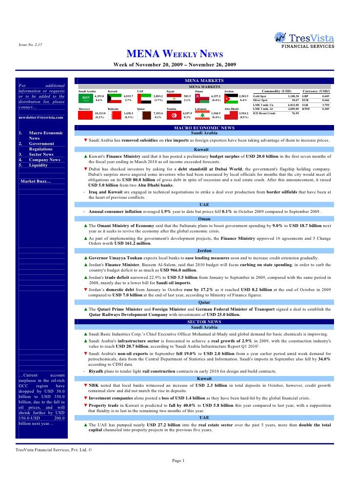 Issue No. 2.17                                                                     MENA WEEKLY NEWS                       ...