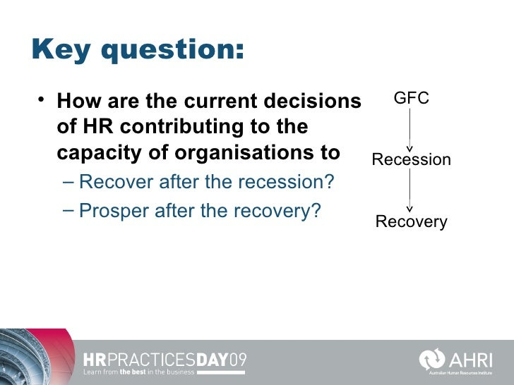 Role of HR During a Recession Period