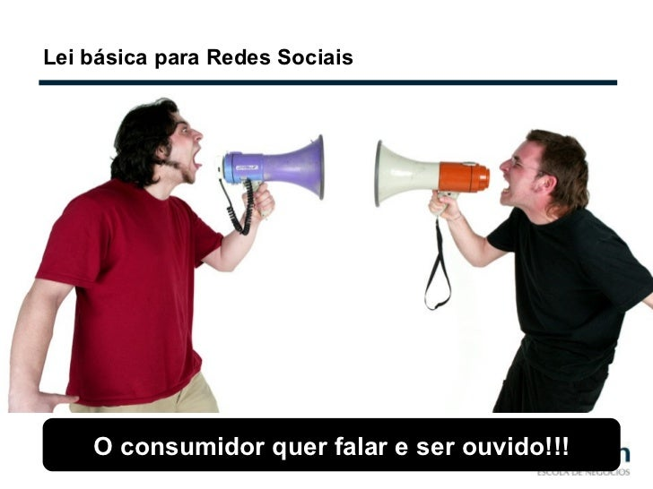 Lei básica para Redes Sociais O consumidor quer falar e ser ouvido!!!