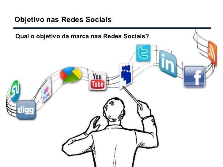 Objetivo nas Redes Sociais Qual o objetivo da marca nas Redes Sociais?