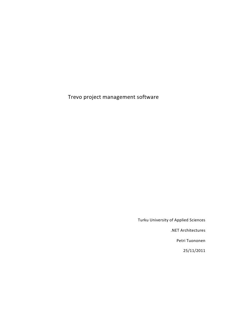 Trevo project management software                         Turku University of Applied Sciences                            ...