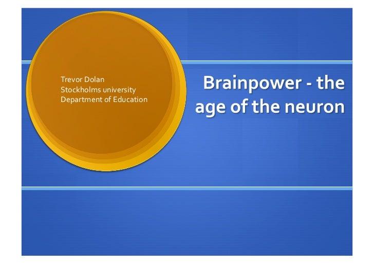 TrevorDolanStockholmsuniversityDepartmentofEducation