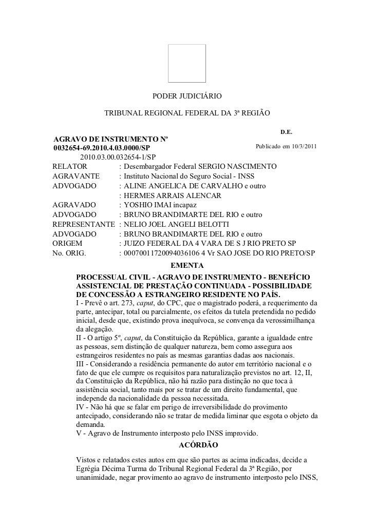 PODER JUDICIÁRIO                TRIBUNAL REGIONAL FEDERAL DA 3ª REGIÃO                                                    ...