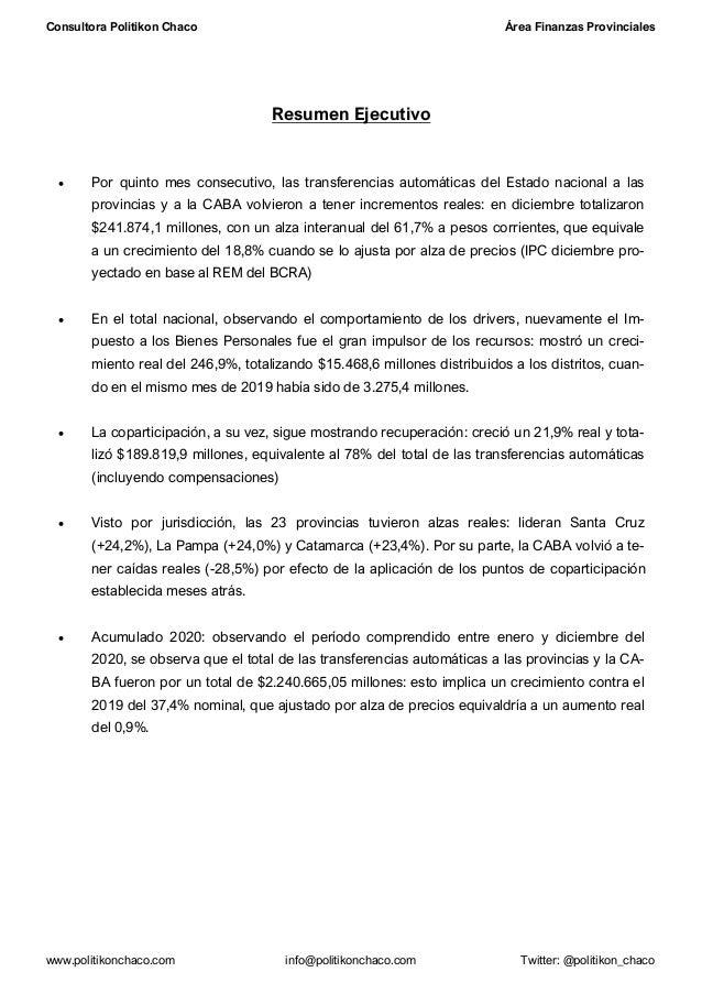 Transferencias automáticas a las provincias Diciembre 2020 Slide 2