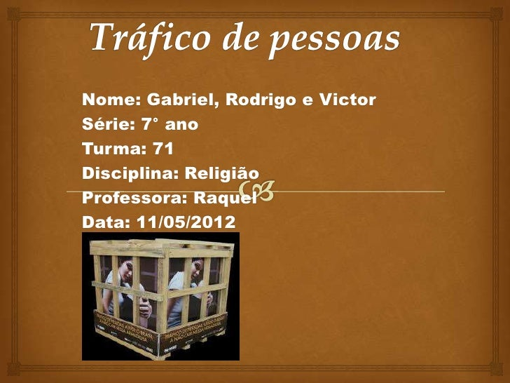 Nome: Gabriel, Rodrigo e VictorSérie: 7° anoTurma: 71Disciplina: ReligiãoProfessora: RaquelData: 11/05/2012