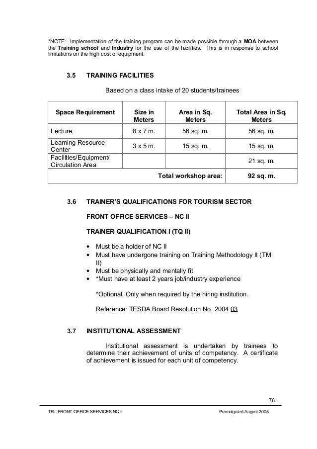 office training manual muapet tk
