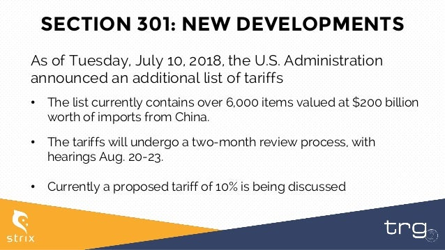 New Tariffs on Chinese Imports: Section 232 & 301