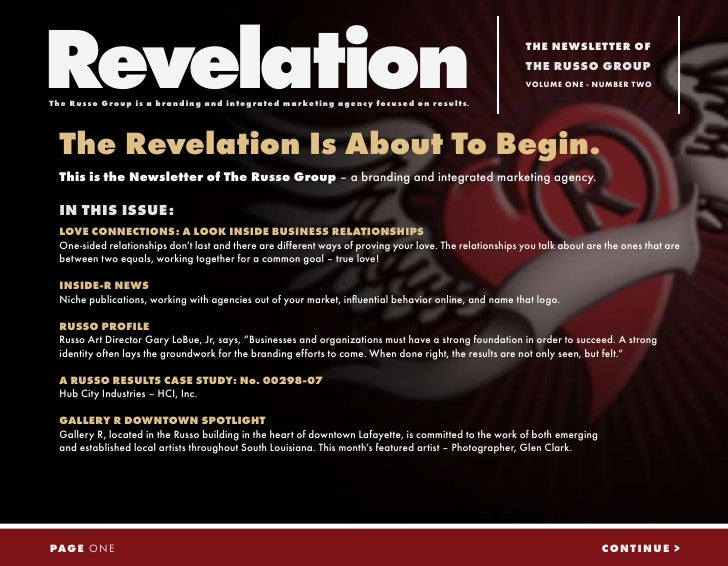 Revelation The Russo Group is a branding and integrated marketing agency focused on results.                              ...