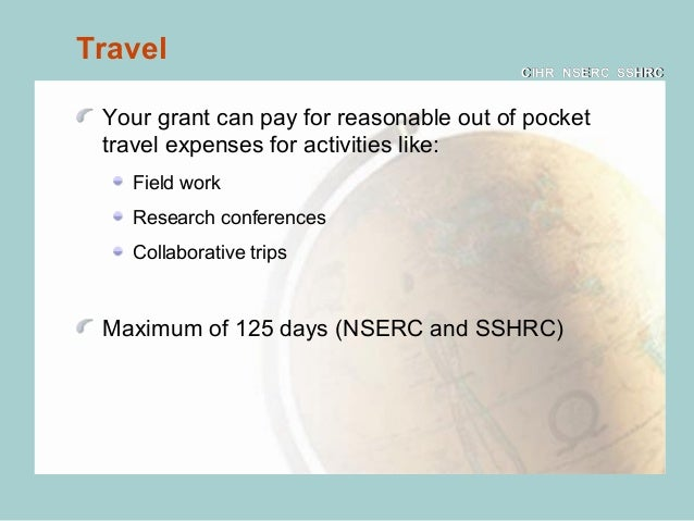 nserc thesis eligible expenses Any and all costs associated with thesis examination/defence, including external examiner costs (travel, food allowance, meeting expenses, etc.