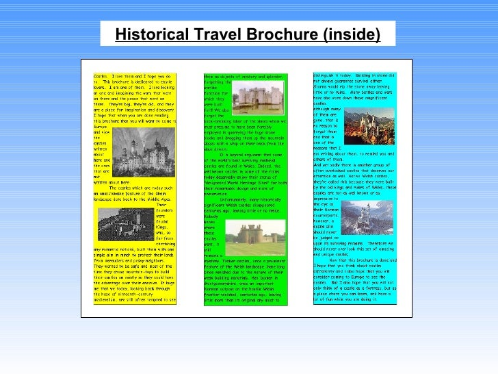 travel brochure school project