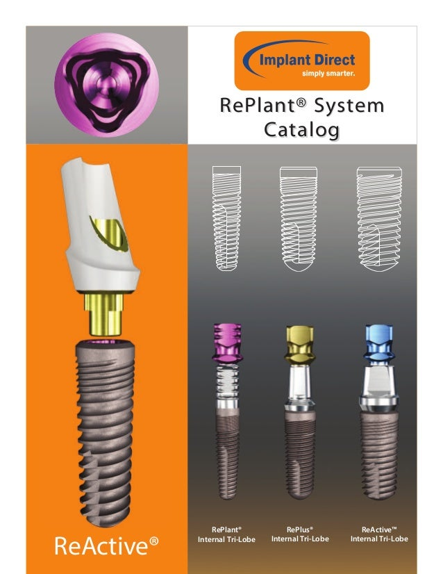 ReActive® RePlant® SystemRePlant® System CatalogCatalog RePlant® Internal Tri-Lobe RePlus® Internal Tri-Lobe ReActive™ Int...