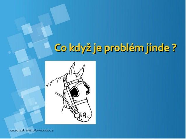 napravnik.jiri@salamandr.cz Co když je problém jinde ?Co když je problém jinde ?